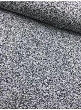 1,70m x 150cm -  Grijs Zwart Gespikkeld Gebreid - Joggingstof