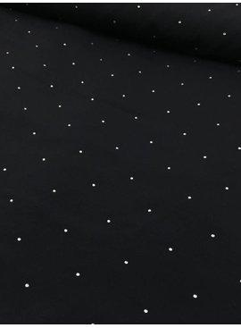 0,7m x 135cm - Diamonds Black - Crepe