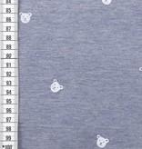 9€ p/m - Little Bears Blue - Bedrukte Tricot