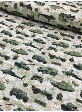 14.50€ p/m - Digital Military - Bedrukte Tricot
