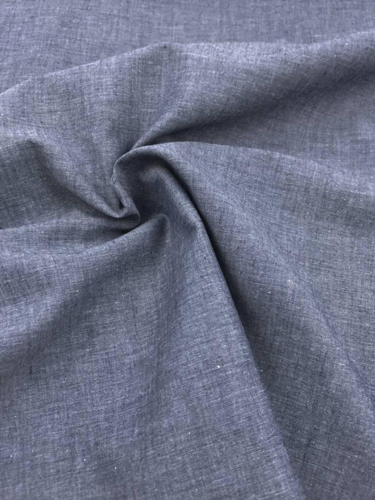8€ p/m - Gemeleerd Blauw - Effen Katoen