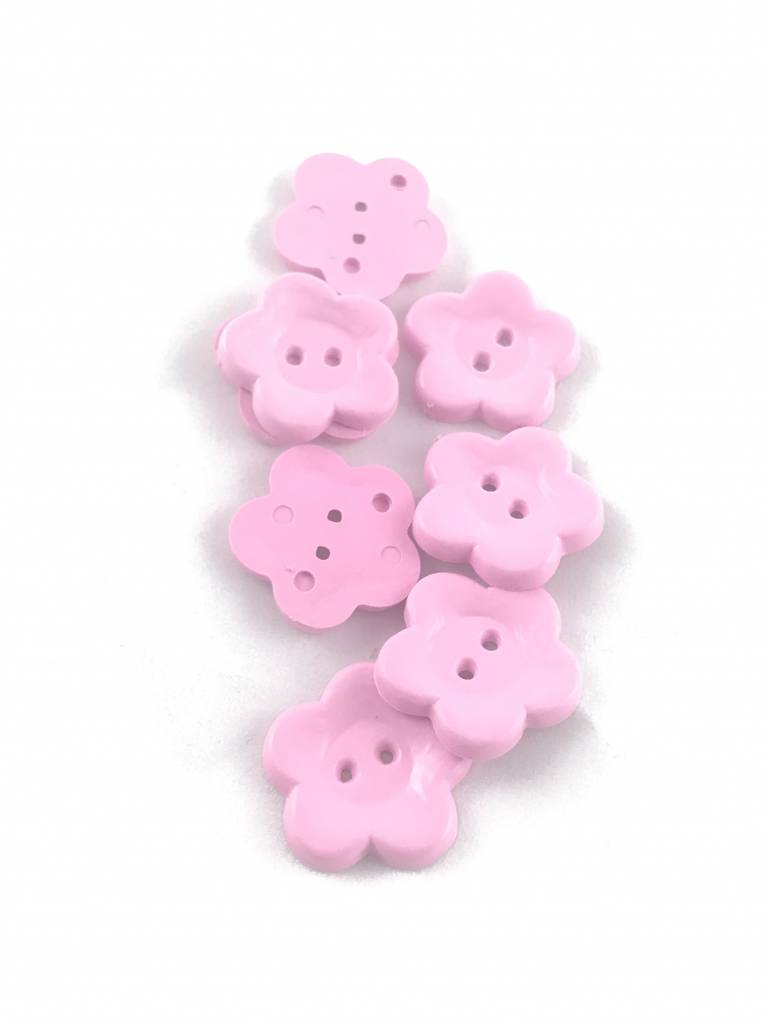 Roze Bloem - Knoop