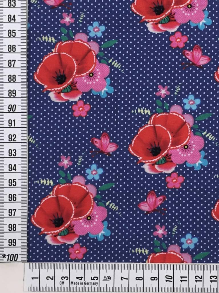 14,50€ p/m - Poppy Love - Bedrukte Tricot