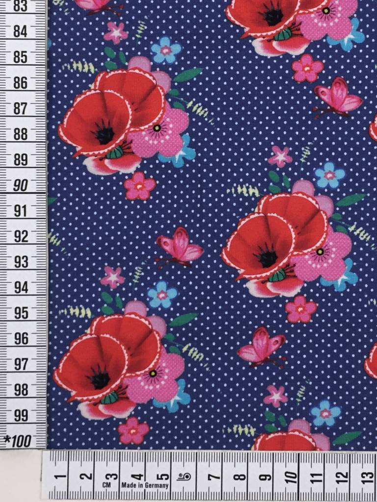 Fiona Hewitt 14,50€ p/m - Poppy Love - Bedrukte Tricot