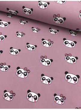 11€ p/m - Cute Panda Oudroze - Bedrukte Tricot