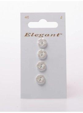 Elegant Bloemvormige Parelmoer Knoop - Elegant 046