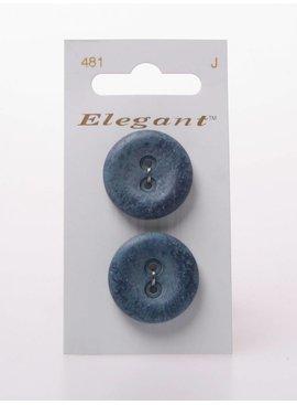 Elegant Blauwe Knoop met Aquarel Motief - Elegant 481