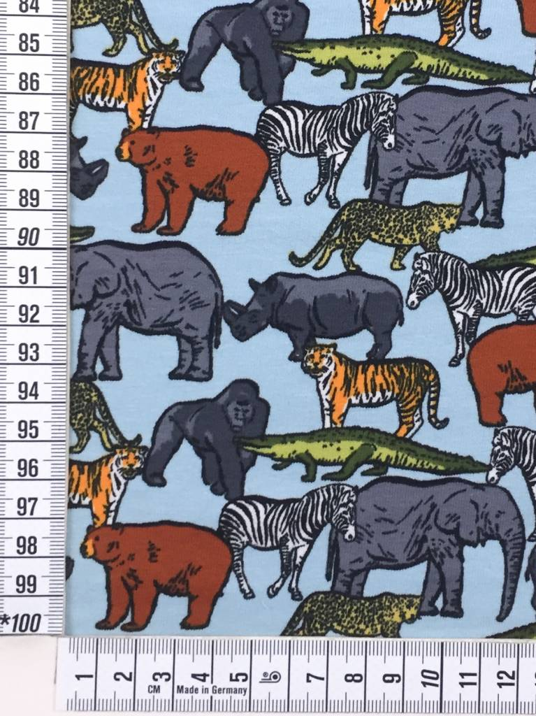 6€ p/m - Safari Animals - French Terry