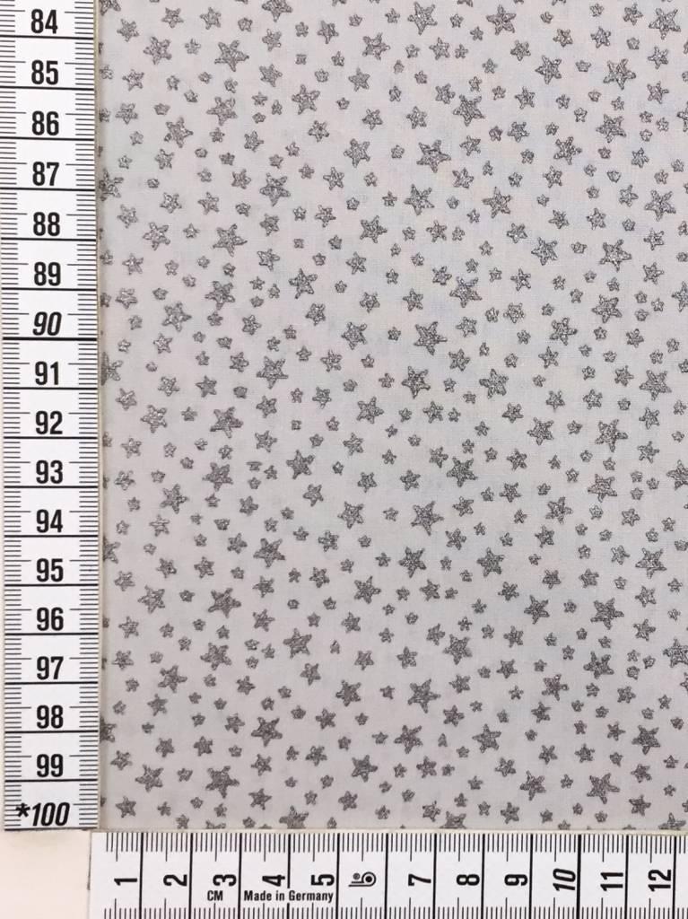 8,50 p/m - Glitter Little Stars - Bedrukte Katoen