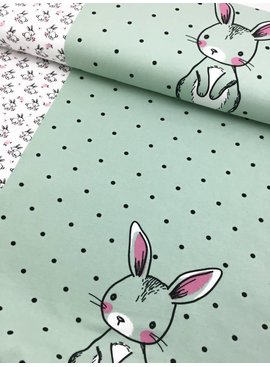 8,80€ p/p - Bunnies Love Flowers - Bedrukte Tricot