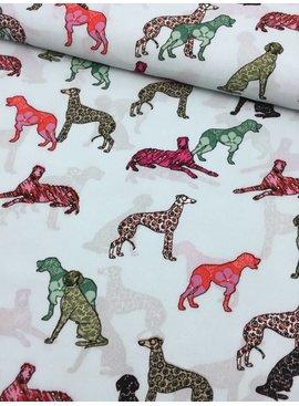 9€ p/m - Gekleurde Honden - Crepe