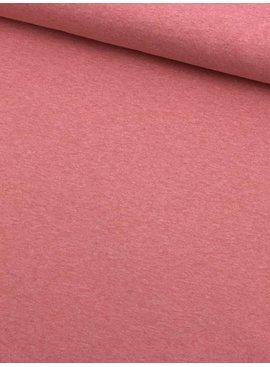 1,4m x 150cm - Donker Roze Gemêleerd - French Terry