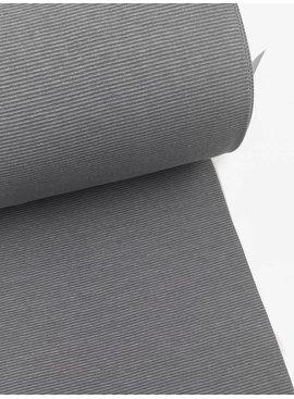 0.4m x 70cm rond - Donkergrijs Gestreept - Boordstof