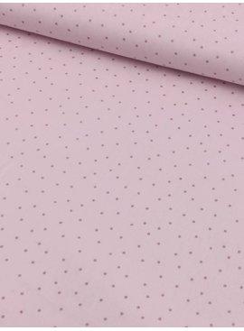 15,50€ p/m - Babyroze Met Roze Glitter Polkadots - Bedrukte Katoen