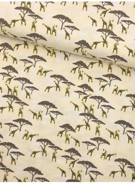 7€ p/m - Giraf Safari - Bedrukte Tricot
