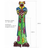 Clown met Kantelemmer   140 x 140 x 380cm