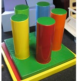 Atelier Michel Koene DEMO bos-mat met gaten en lussen   150x150cm