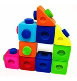 Zachte blokkendoos rubbablox - 4 blokken
