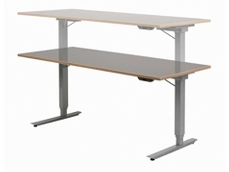 Atelier Michel Koene Easydesk hoog/laag tafel- blad Ecoplex HPL wit   120 x 80cm, slag 65cm