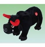 Gekke stampende stier rood of zwart   30cm