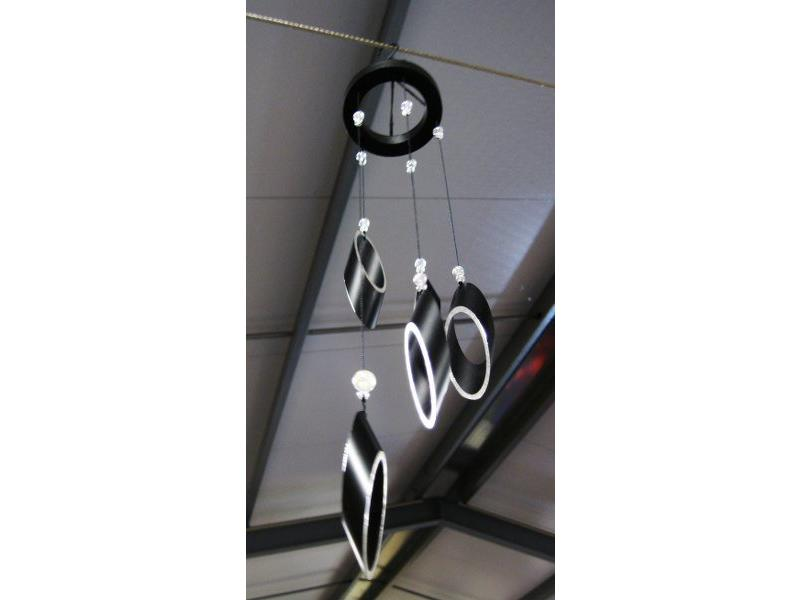 Windchimes zwart-zilver   30cm