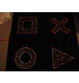Sterrenhemeltapijt- interactief- vormen of cirkels   125 x 125cm