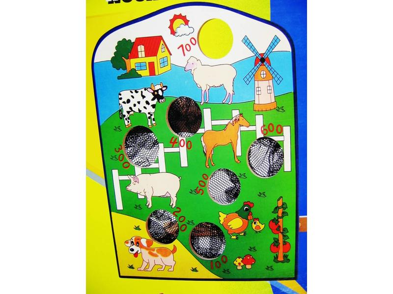 Spel Dieren Voeren - zandzakjes gooien