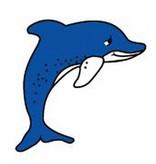 Atelier Michel Koene Decoratieplaat groot- Dolfijn   100cm