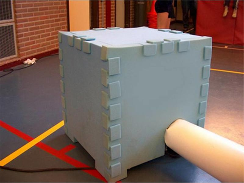 Geluidsisolerende foambox tbv luchtkussenblower