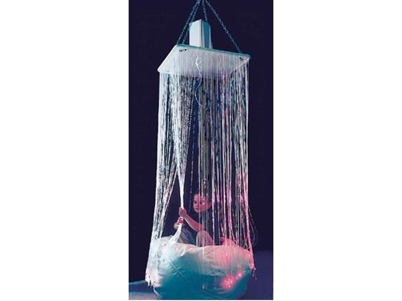 Vezelneveldouche Fibre Optic waterval UV   60x60x125cm