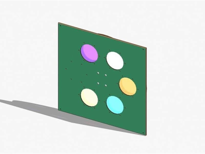Eibe Speelbord multifunctionele schijven   90x89x2cm