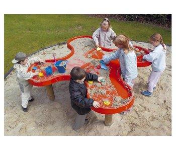 Aqua klaverblad zandwaterspeeltafel