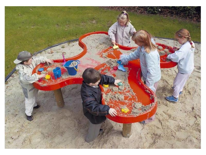 Eibe Aqua klaverblad zandwaterspeeltafel   182x182x70cm