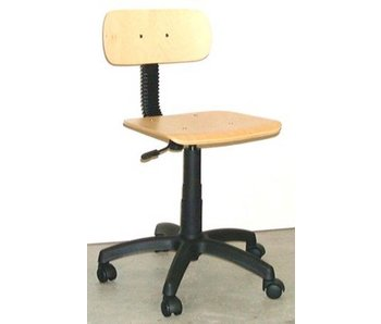 Bureaustoel leidsterstoel beuken hoog/laag