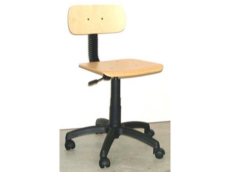 Bureaustoel leidsterstoel beuken hoog/laag   H/L 38-52cm
