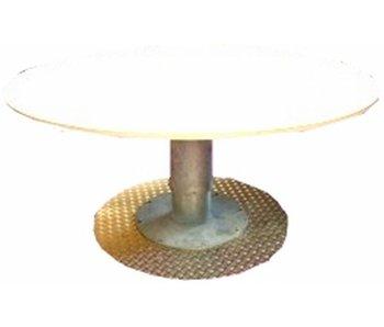 Hoog/laag tafel AMK met spindel, blad ecoplex wit