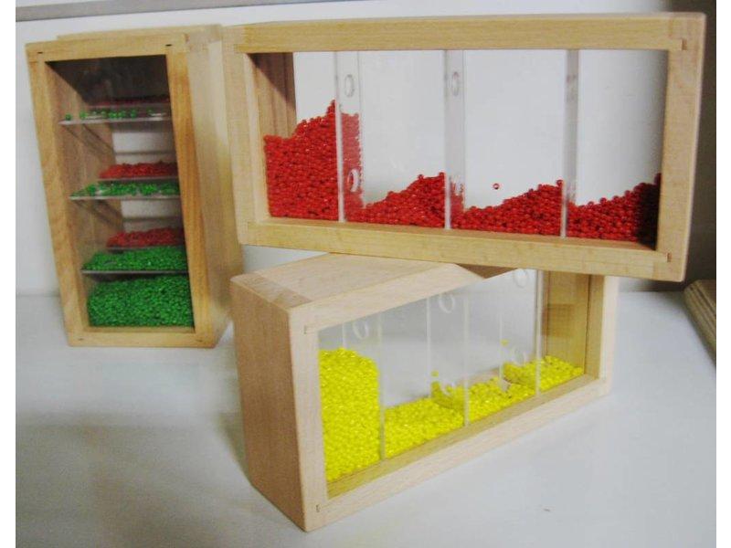 Bouwstenen met kraaltjes   20 x 10 x 5 cm