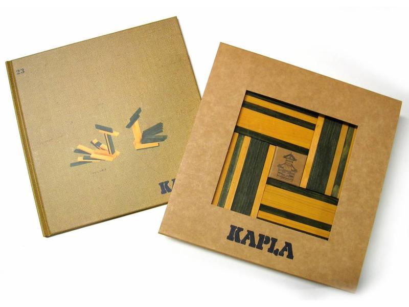 Kapla Kapla- boekje en 40 plankjes- groen-geel