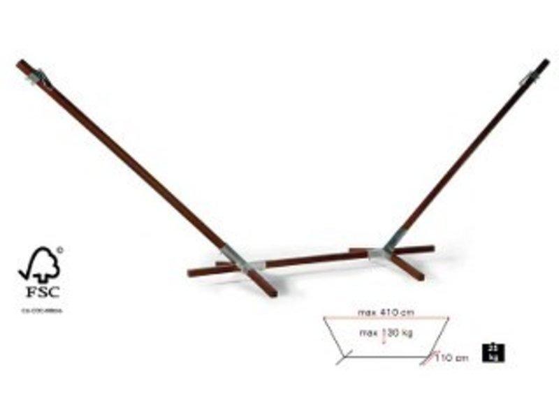 Hangmatstatief hout Madeira   230-425 x 110cm