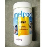 Chloortablet Melpool voor zwembad   1kg (tablet=20g)