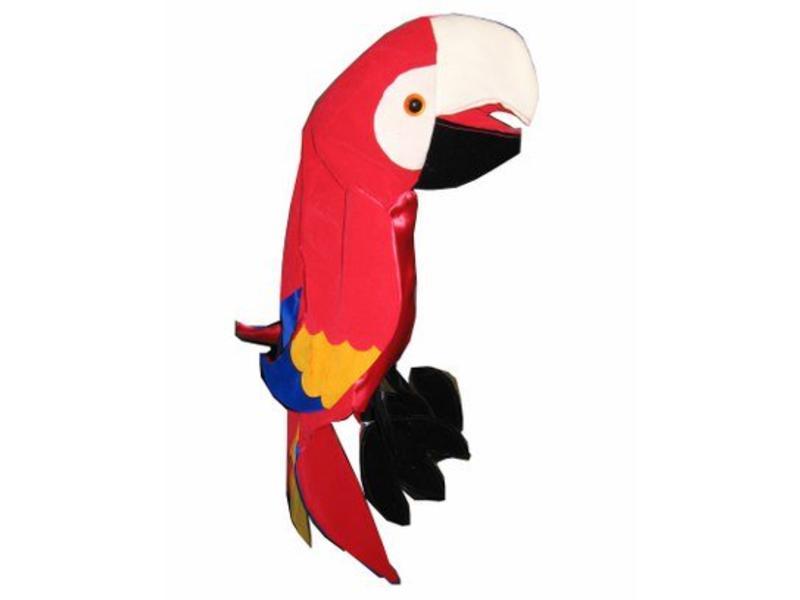 Papegaai Oskar - stof-   30cm