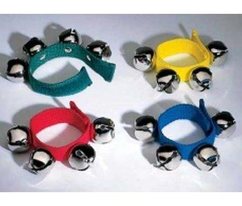 Bellenband stof met klittenband- set van 4- met kleuren
