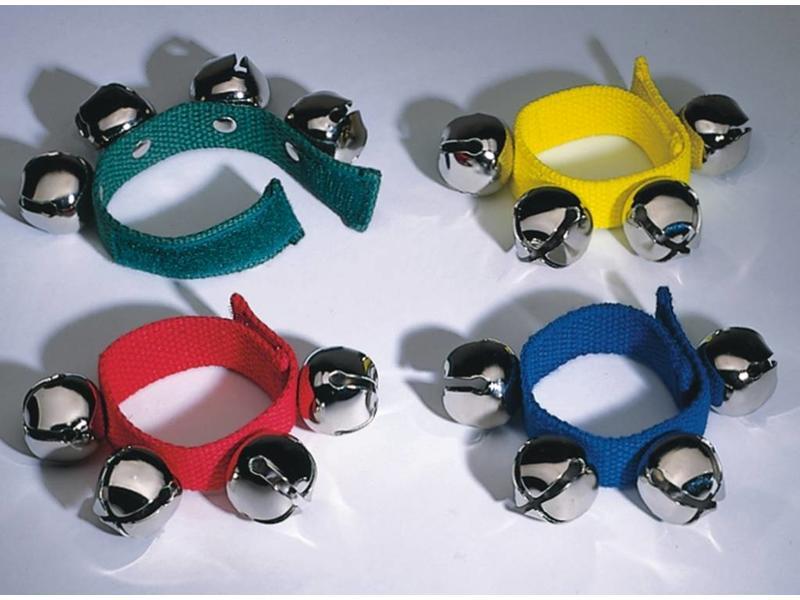 Goldon Bellenband stof met klittenband- set van 4- met kleuren