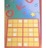 Spelkleed Sudoku inclusief speelmateriaal   92x92cm