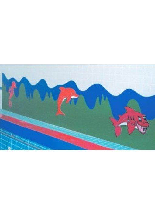 PVC kunststofwand 120cm hoog 2 kleuren