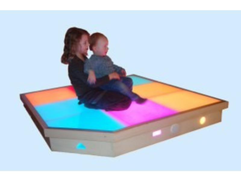 Licht en geluidenvloer   150x150x25cm