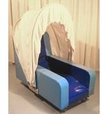 Atelier Michel Koene Stoel Golf verrijdbaar met muziekvibratiesysteem, Bisonyl   140 x 75 x 80cm