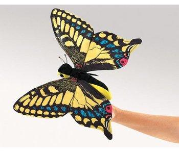 Handpop Vlinder groot