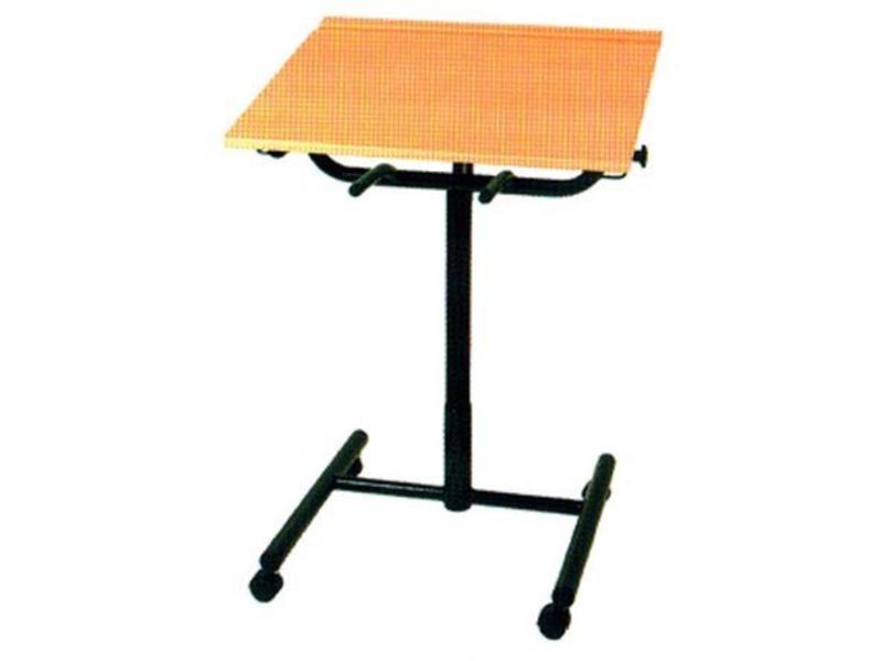 Schooltafel met gaslift   hoog 61-100, blad 70 x 60cm