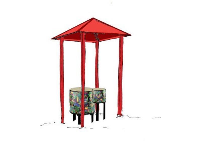 Drum-pagode   1x 56cm + 1x 26cm